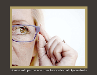 Picture of an older lady wearing spectacles